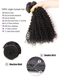 Double Weft Hair Extensions by Curly Virgin Hair Bundles Queen Hair Products Peruvian Curly