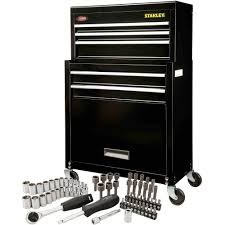 black friday tools stanley rolling tool chest with bonus 68 piece mechanic set