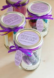 baby shower gifts for guests diy gifts pedicure in a jar shower gift favors with green