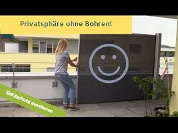 balkon windschutz ohne bohren sichtschutz ohne bohren machts