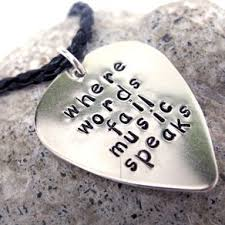 Engraved Guitar Pick Necklace Guitar Pick Necklaces Personalized Guitar Pendants Custommade Com