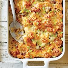 cheesy sausage and croissant casserole recipe myrecipes