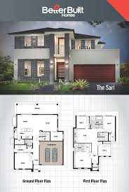 architecture drawing double storey bungalow plan three house