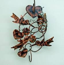 Sheet Metal Garden Art - hummingbird decor bird art plant hanger garden art metal