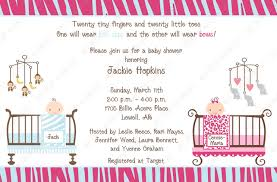 twin baby shower invitation wording u2013 home party theme ideas