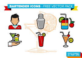 tropical cocktail silhouette cocktail circle outline icons download free vector art stock