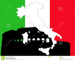 Italy On Map Map Of Italy On Italian Flag Royalty Free Stock Photo Image 2828615