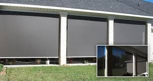 Roll Up Patio Blinds by Roll Up Patio Screens Roll Up Solar Screens Interior View Roll Up