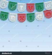 mexican decoration viva mexico live stock vector 216766357