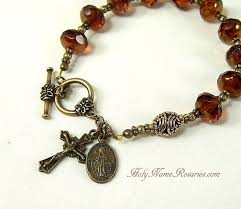 chaplet of the holy rosary bracelet chaplet holy spirit miraculous by holynamerosaries