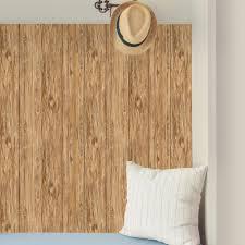 peel and stick wallpaper reviews roommates 28 18 sq ft brown mushroom wood peel and stick