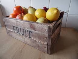 fruit basket fruit bowl fruit basket rustic fruit crate solid pine hand
