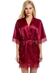 robe de chambre en satin pour femme zearo femme robe de chambre nuisette satin dentelle