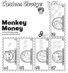 cut curious george play money open pretend store