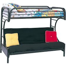 eclipse twin over futon metal bunk bed black ebay