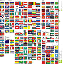 Country Flags England The National Flags Of All Countries Of The World Stock Vector
