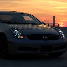 ccfl halo for 2003 2007 infiniti g35 coupe led projector black