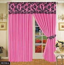Black And Fuchsia Curtains Luxurious Damask Half Flock Ready Made Tape Top Curtains U2013 Fuchsia