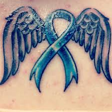 colon cancer ribbon and wings 3 any type could be used