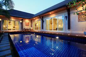phuket pool villa resort modern thai villa