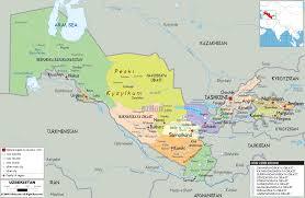 uzbekistan map in world uzbekistan map