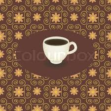 coffee cup template background with ornament stock vector