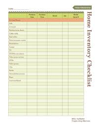 Insurance Inventory List Template by Home Inventory List Thebridgesummit Co