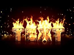 create real fire text in after effects after effects template