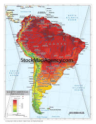 World Temperature Map by Temperature Map Of South America Available As Poster Print Or As