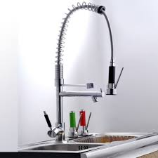 Kitchen Faucets With Pull Out Spray Enchanting Apartment Kitchen Deco Showing Awesome Chrome Kitchen