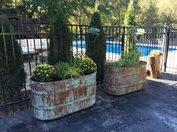 Container Gardening Business Copper Patina And Rust Container Gardens Gardens Yards And