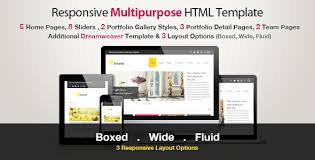 fluid wide and boxed layout templates from themeforest