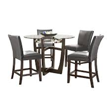 Piece Margo Counter Height Dining Table Set WoodGray Steve - Hyland counter height dining room table with 4 24 barstools