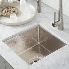 polished nickel bar sink cantina copper bar prep sink and sinks
