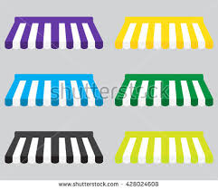 Window Canopies And Awnings Canopy Awning Striped Store Element Design Stock Vector 428024629