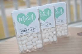 mint to be wedding favors mint to be tic tac labels bridal shower favors wedding favors