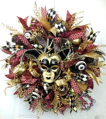 black and gold mardi gras deco mesh mardi gras wreath mardi gras decor jester mask wreath