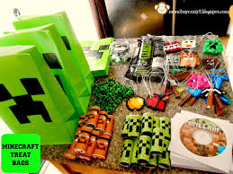 minecraft goody bags running away i ll help you pack minecraft birthday party