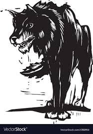 big bad wolf royalty free vector image vectorstock