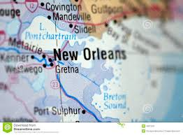 Bourbon Street New Orleans Map by New Orleans Map Stock Photo Image 48536058
