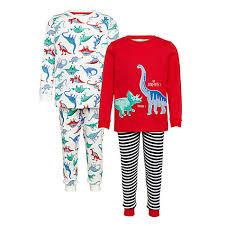 buy lewis children s dinosaur pyjamas pack of 2