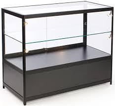 glass counter display cabinet glass counter locking storage base w black lights