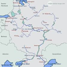 map of europe and russia rivers russia european waterways eu description of waters facilities