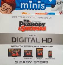 free mr peabody and sherman digital hd movie code other dvds