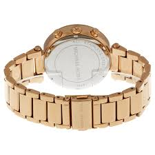 rose tone stainless steel bracelet images Michael kors women 39 s chronograph parker rose gold tone stainless jpg