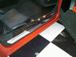 corvette stainless creations corvette c4 chrome door sill covers
