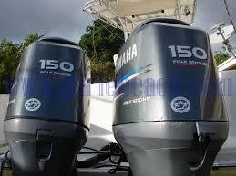 pair of yamaha 150 4 stroke engine outboard 4 stroke motors