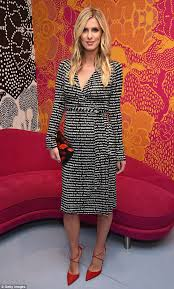 dvf wrap dress nicky stuns in classic wrap dress at dvf show during new