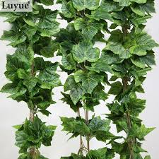Indoor Vine Plant Like Real Artificial Silk Grape Leaf Garland Faux Vine Ivy Indoor