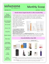 april newsletter soluzione spa products